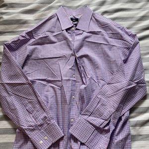 Hugo Boss 100% Cotton Plaid 16 neck, 32/33 Shirt